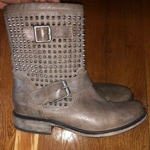 Steve Madden distressed leather booties